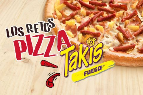 Reto Pizza Takis Fuego